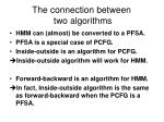 the connection between two algorithms