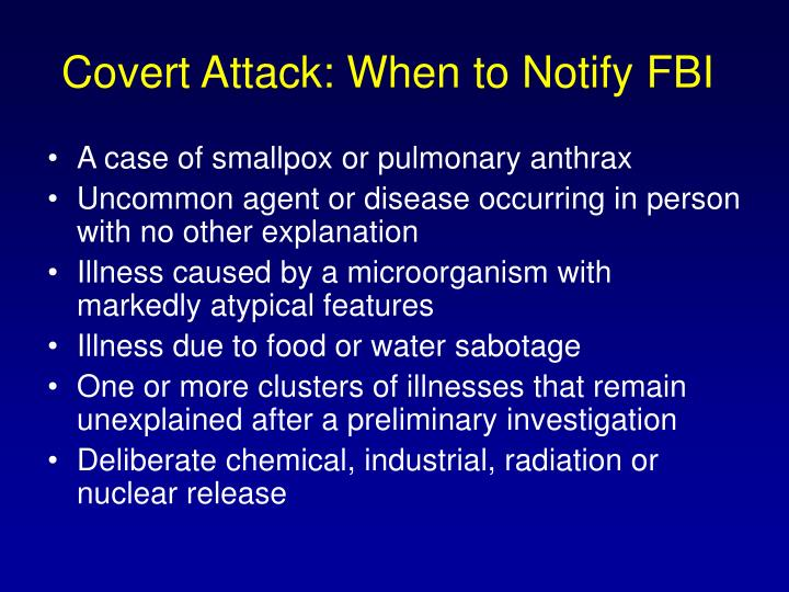 Covert Attack: When to Notify FBI
