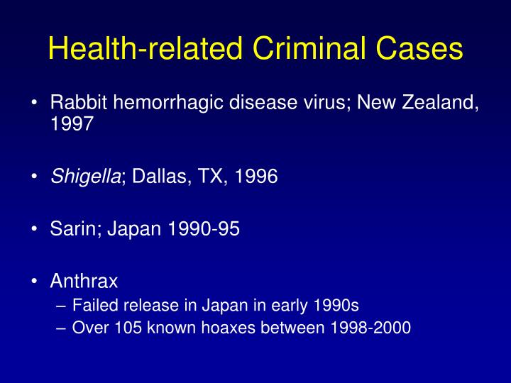 Health-related Criminal Cases