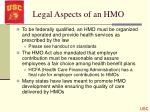 legal aspects of an hmo
