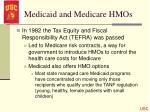 medicaid and medicare hmos