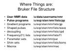 where things are bruker file structure