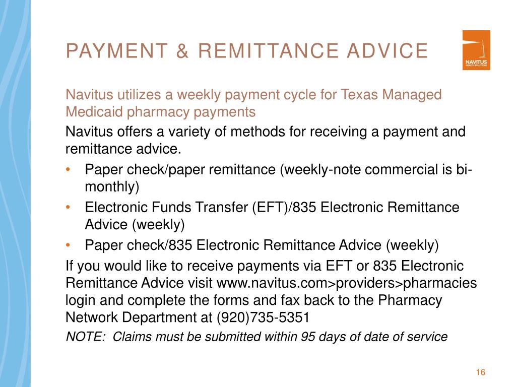 Payment & remittance advice