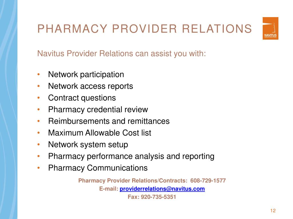 Pharmacy Provider Relations