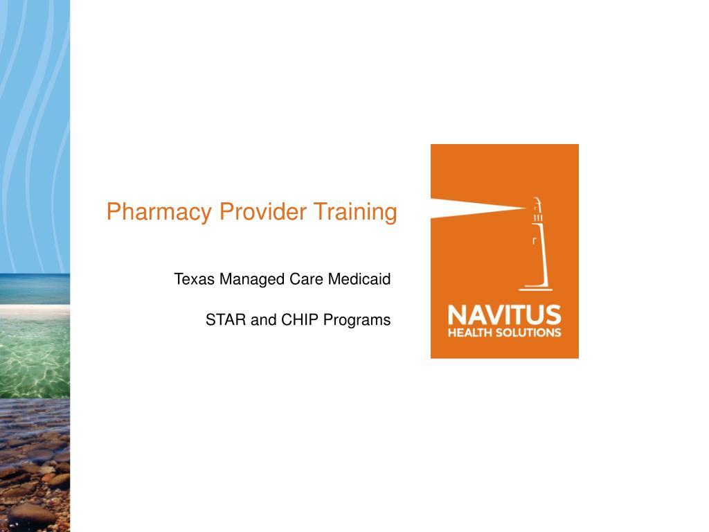 Pharmacy Provider Training