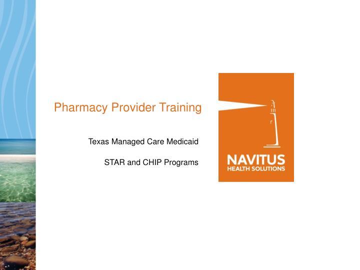 pharmacy provider training n.