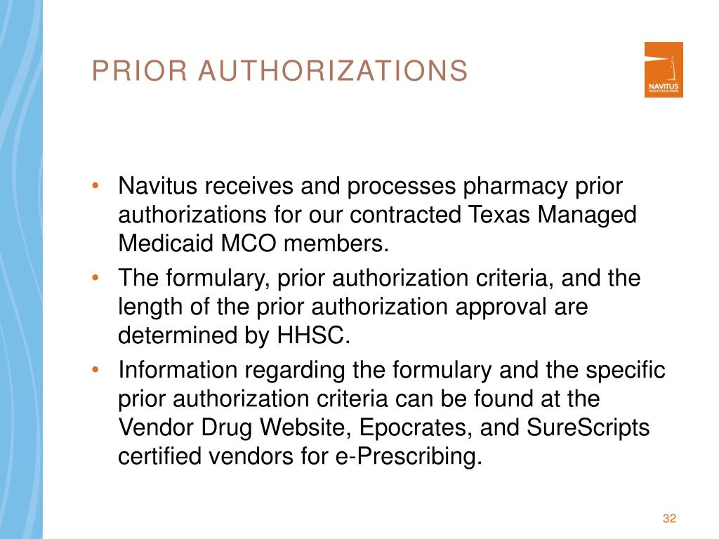 Prior authorizations