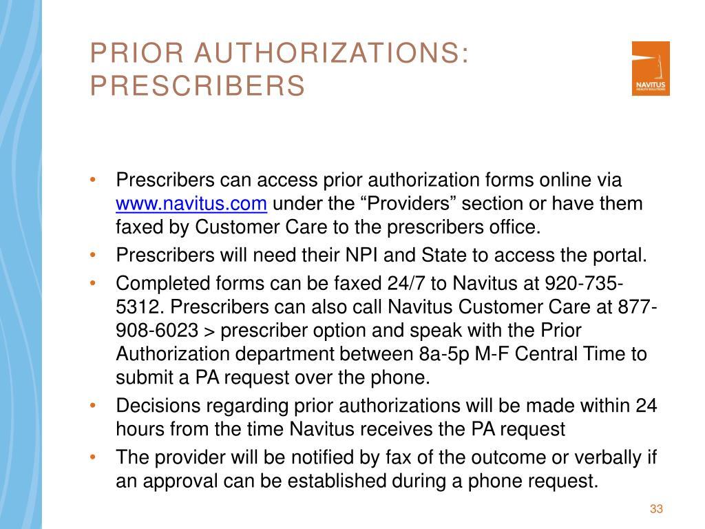 Prior authorizations: PRESCRIBERS