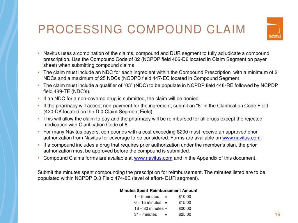 Processing Compound Claim