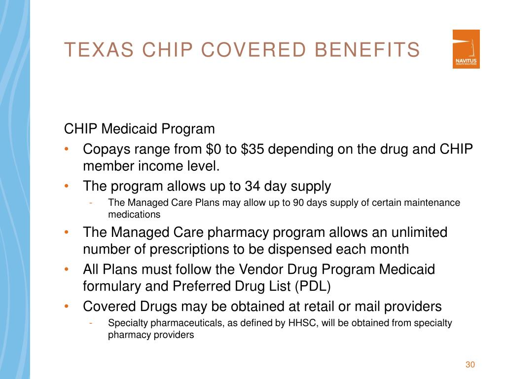 Texas CHIP Covered Benefits