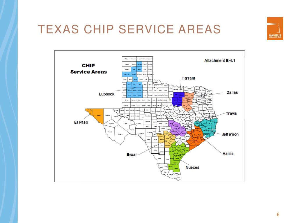 Texas CHIP Service Areas