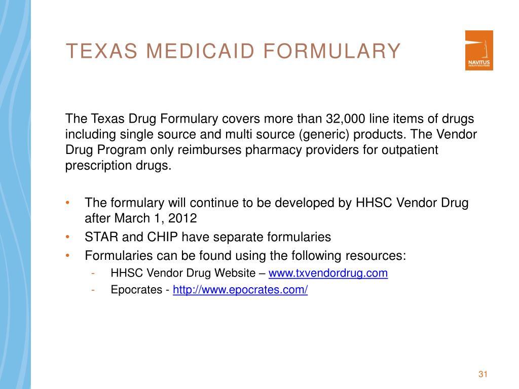 Texas Medicaid Formulary