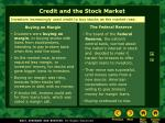 credit and the stock market