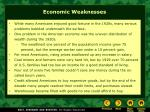 economic weaknesses