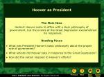 hoover as president