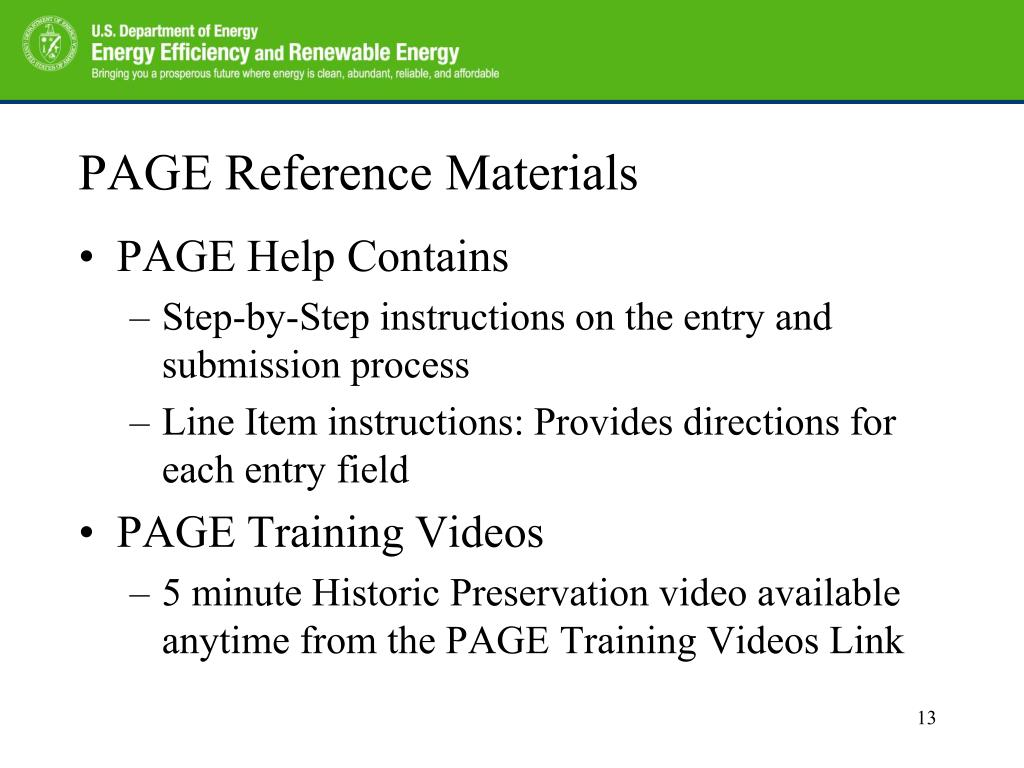 PAGE Reference Materials