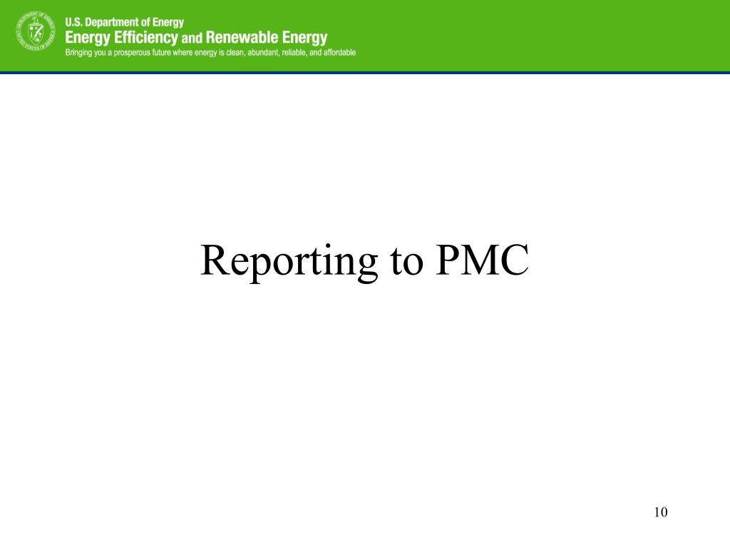 Reporting to PMC