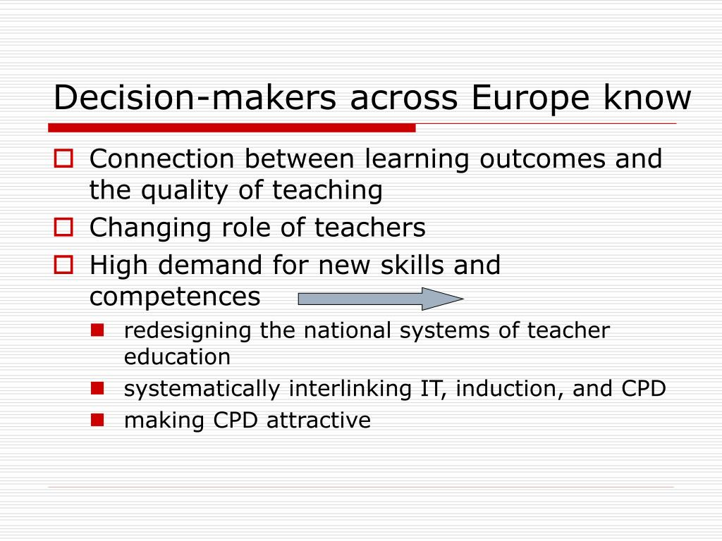 Decision-makers across Europe know