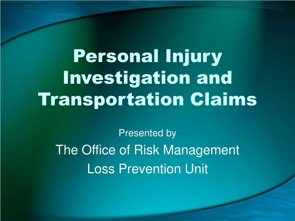 personal injury investigation and transportation claims l.