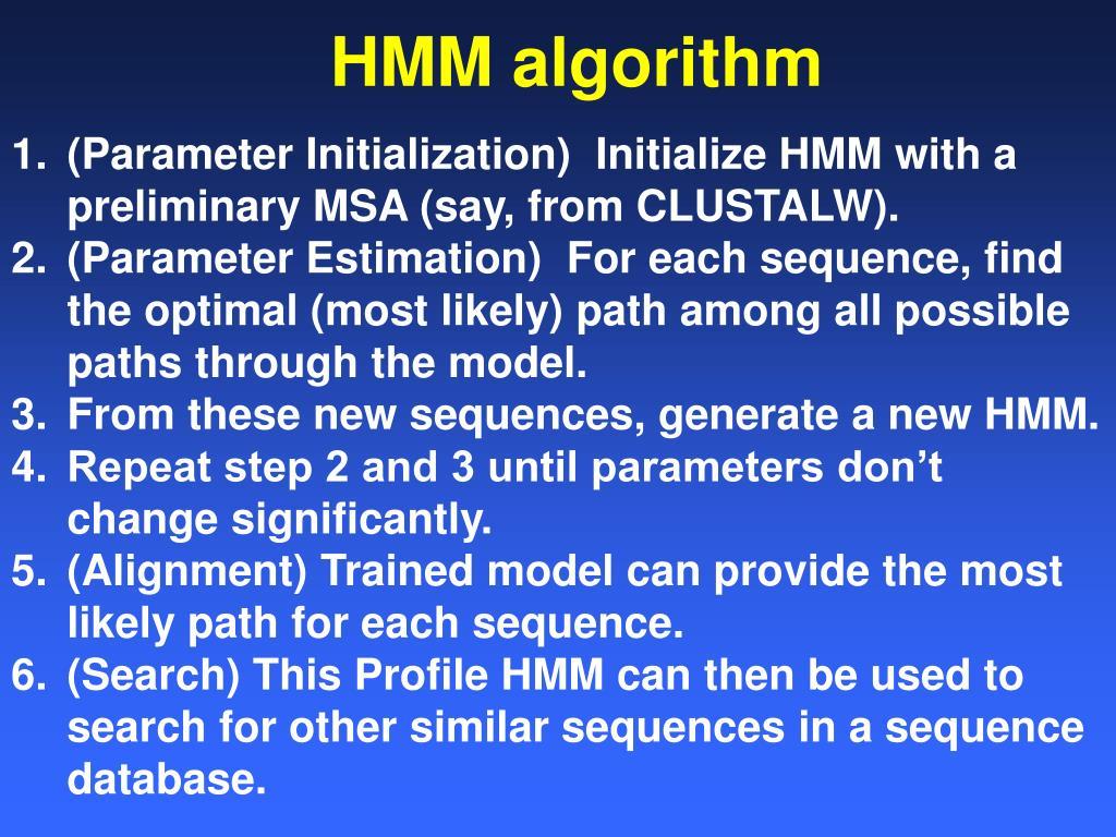 HMM algorithm