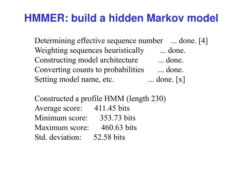 HMMER: build a hidden Markov model