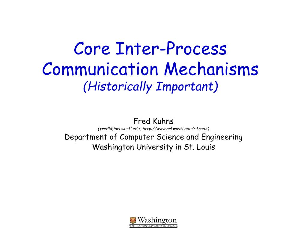 Core Inter-Process Communication Mechanisms