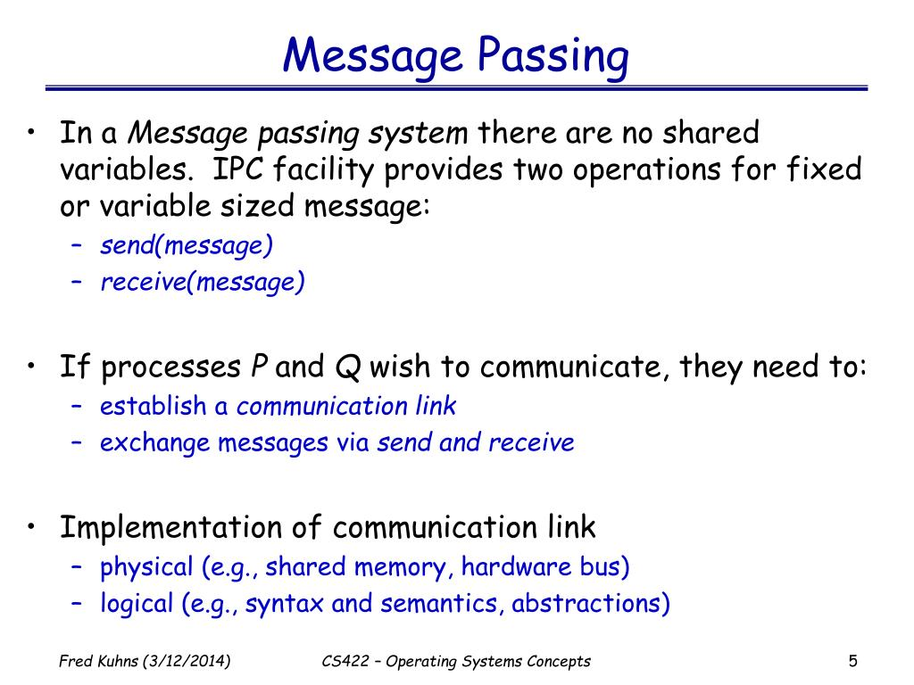 Message Passing