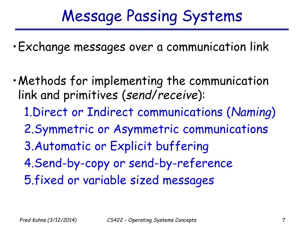 Message Passing Systems