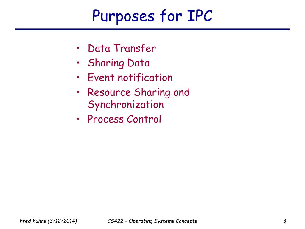 Purposes for IPC