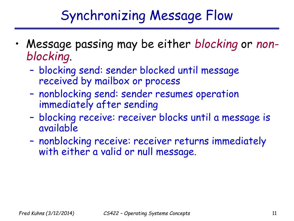 Synchronizing Message Flow