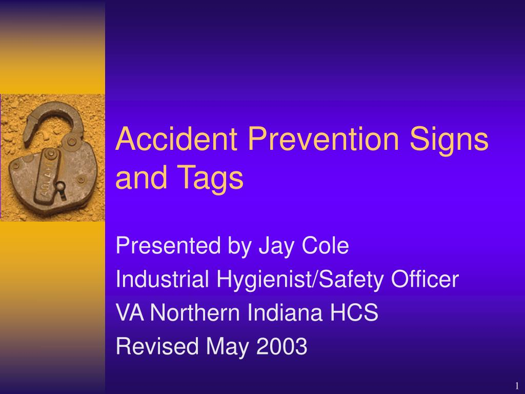 accident prevention signs and tags l.