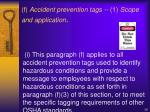 f accident prevention tags 1 scope and application