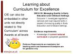 learning about curriculum for excellence6