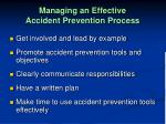 managing an effective accident prevention process