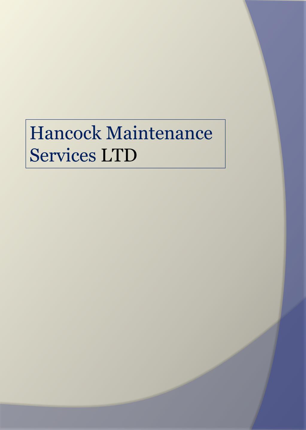 Hancock Maintenance Services