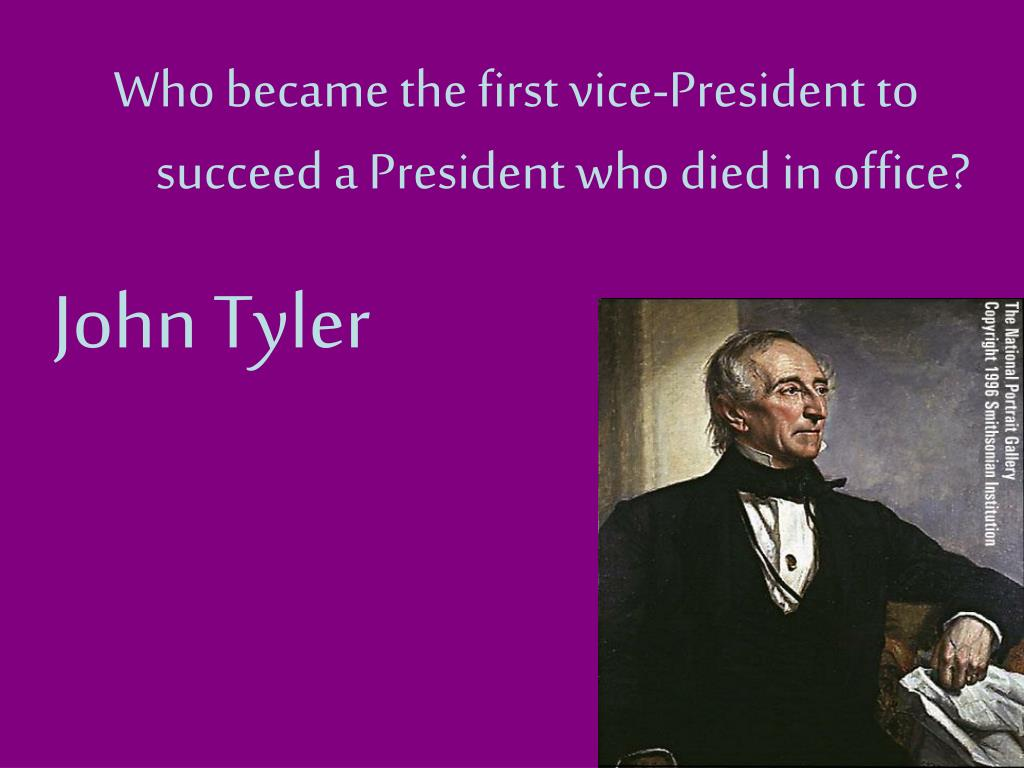 Who became the first vice-President to succeed a President who died in office?