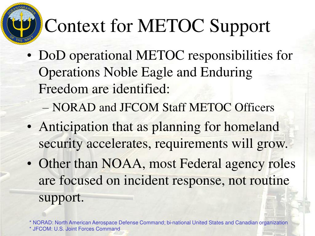 Context for METOC Support