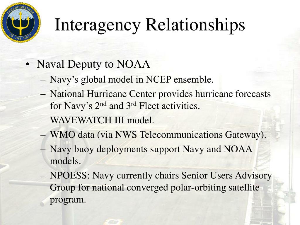 Interagency Relationships