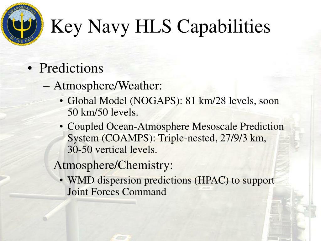 Key Navy HLS Capabilities