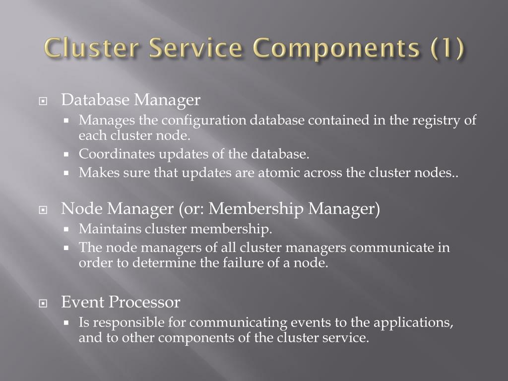 Cluster Service Components (1)