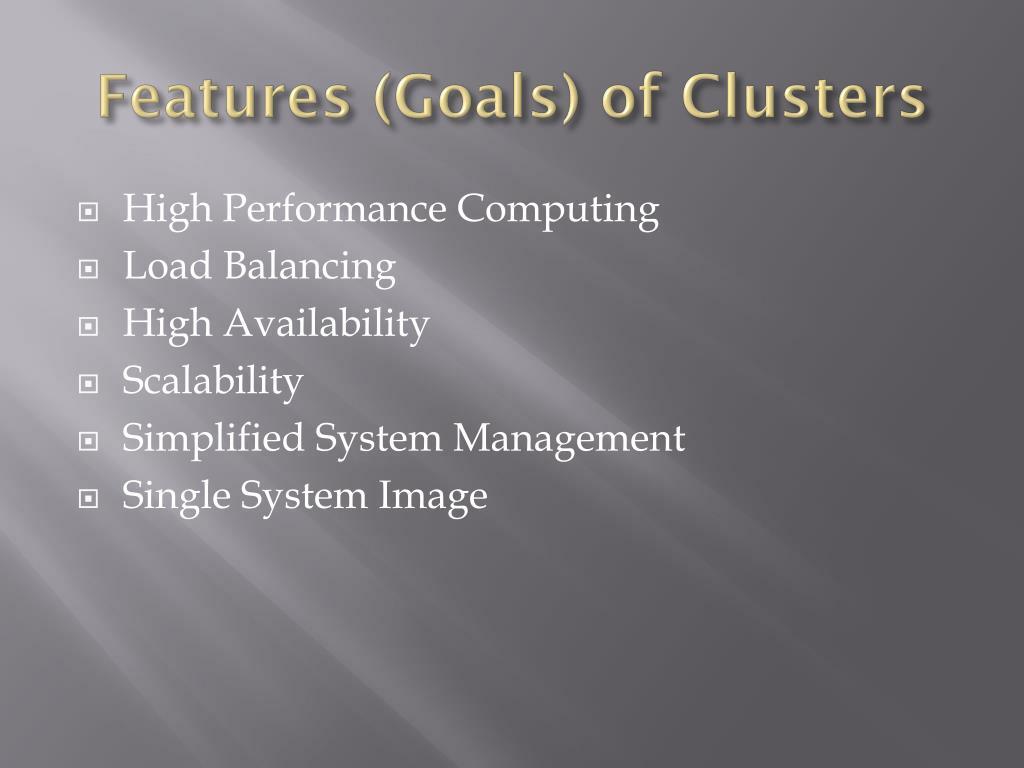 Features (Goals)