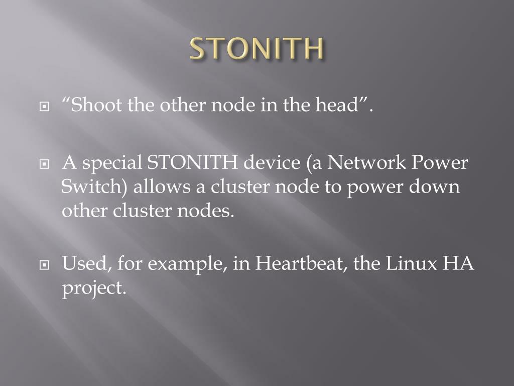 STONITH