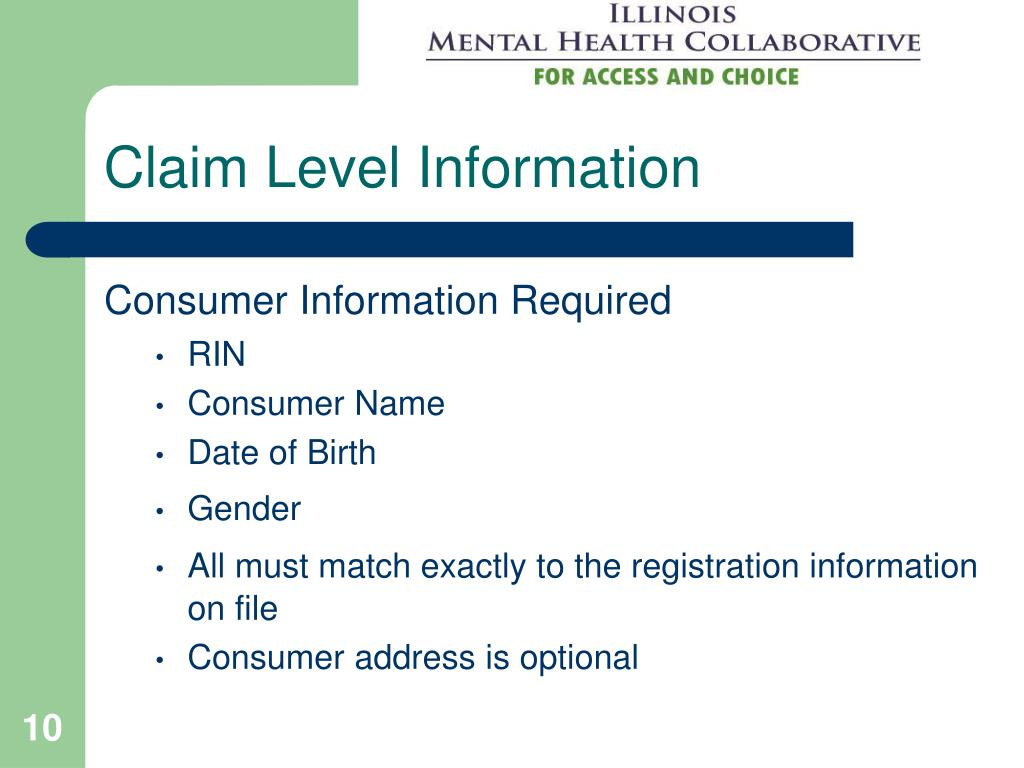 Claim Level Information