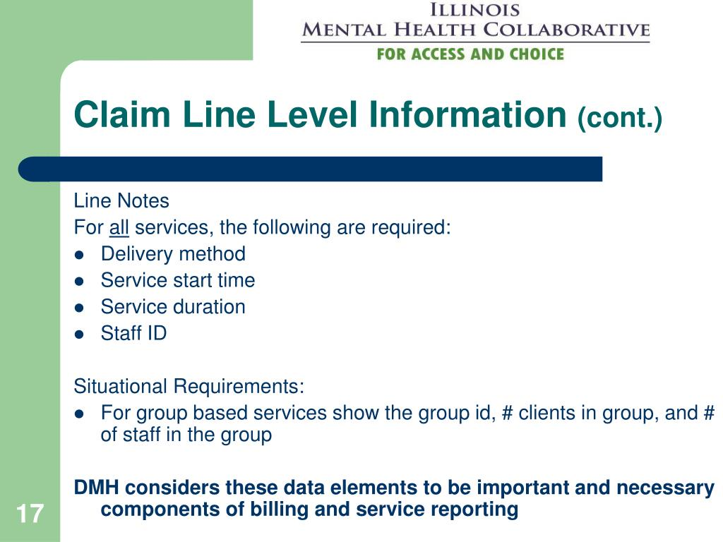 Claim Line Level Information