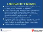 laboratory findings20