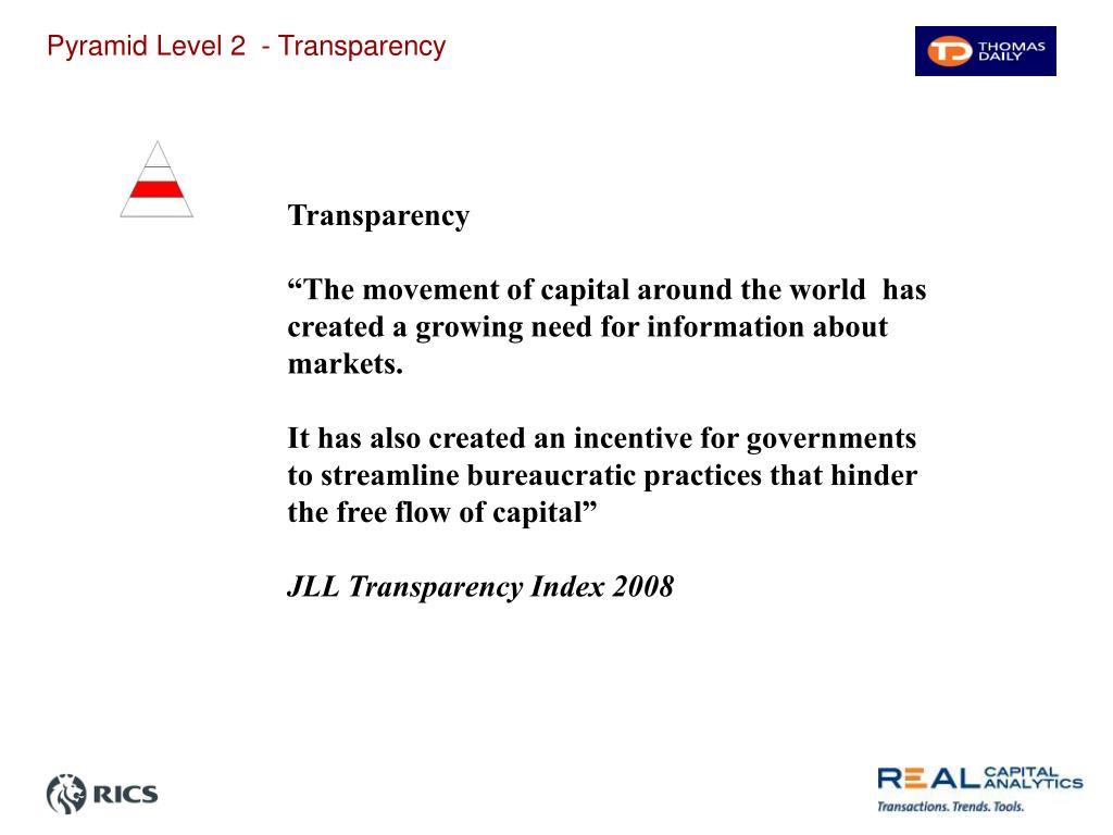 Pyramid Level 2  - Transparency