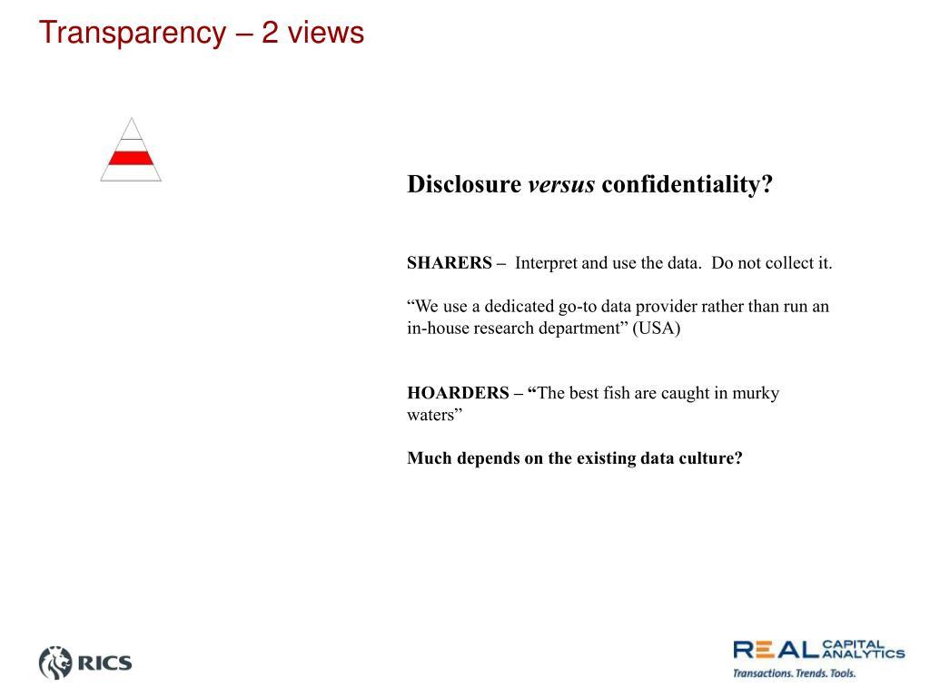 Transparency – 2 views