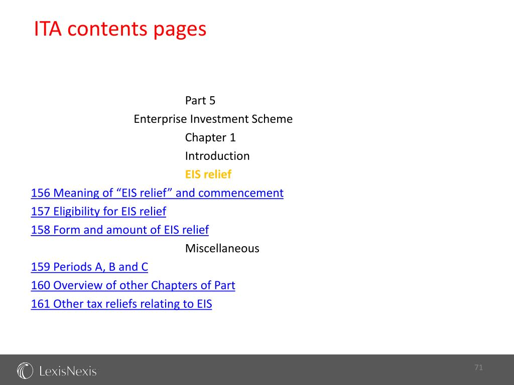 ITA contents pages