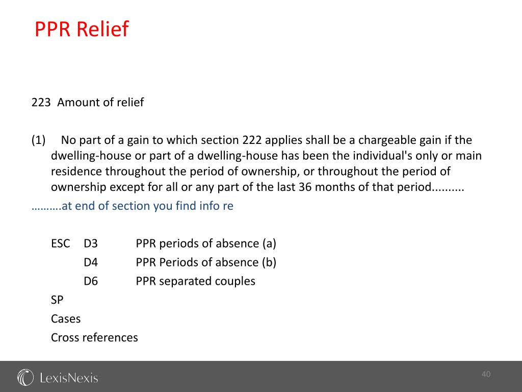 PPR Relief