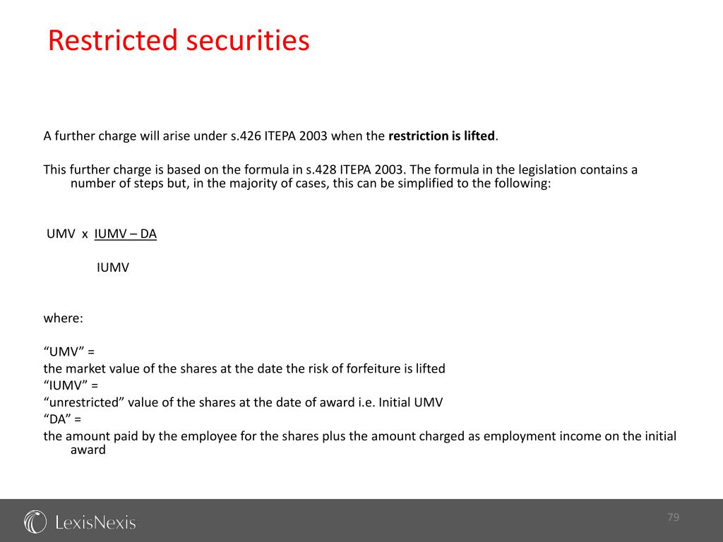 Restricted securities